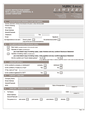 Instruction Sheet   BLeaseb Preparation   MJHC Legal