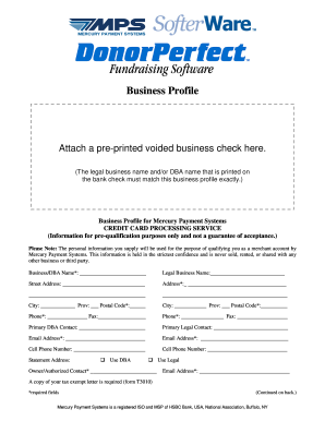 Business Profile - MPS Softerware-Donorperfect