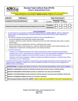 Revised Total Coliform Rule RTCR Level 2