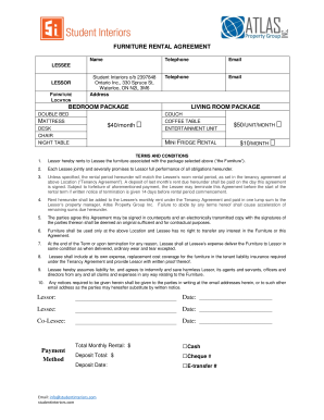 17 Printable Desk Rental Agreement Forms And Templates