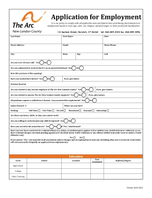 Employment bond agreement sample edit print fill out download application for employment the arc new london county platinumwayz