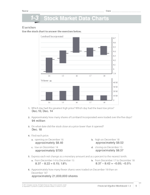 1 3 Stock Market Data Charts Fill Online Printable