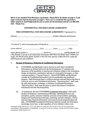 Fillable Online Confidential Bnonb Bdisclosureb Agreement