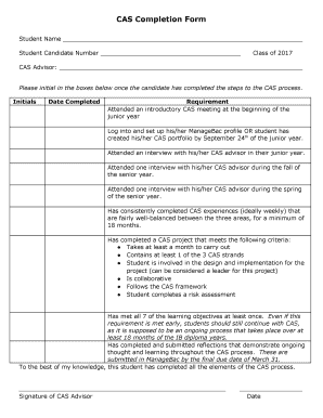 Fillable Online CAS Completion Form - higueracohsweeblycom Fax ...