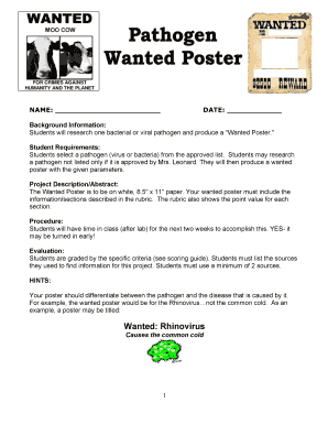 photograph regarding Printable Wanted Poster titled 20 Printable ideal poster template pdf Types - Fillable