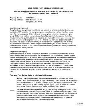 lead paint disclosure form pdf