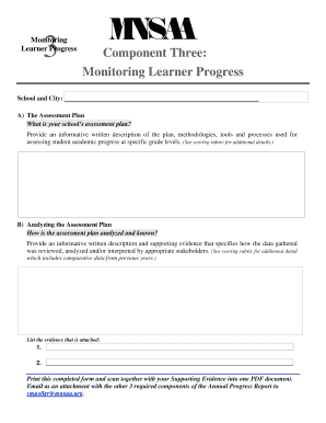 Learner Progress Component Three Monitoring -