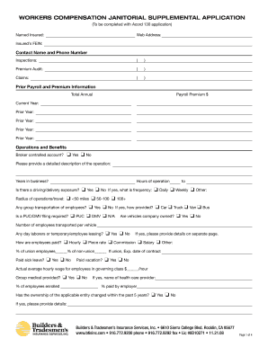 14 Printable Acord 130 Supplemental Application Forms And Templates