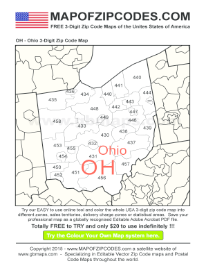 Fillable Online oh-ohio-zip-code-map Fax Email Print - PDFfiller