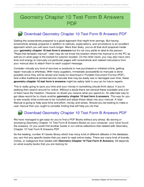 Chapter 10 Test Form A Geometry - Fill Online, Printable, Fillable ...