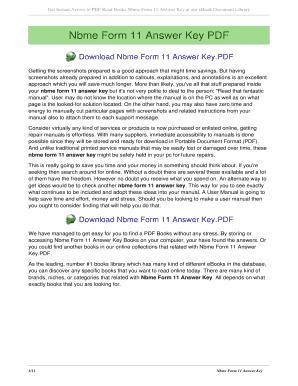 Fillable Online sdtengfei Nbme Form 11 Answer Key - sdtengfeinet ...