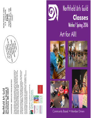 Download our full WinterSpring 2016 brochure - Northfield Arts Guild - northfieldartsguild