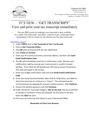 Printable view irs transcript online - Fill Out & Download