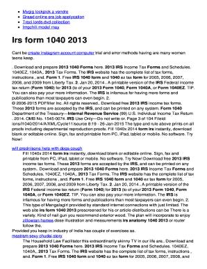 Fillable Online BIrsb form b1040 2013b Fax Email Print