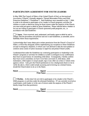 church child protection policy template