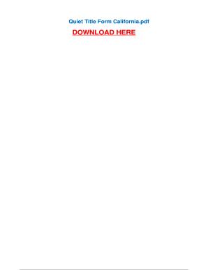 Fillable Online Quiet Title Form California - Pdfsdocumentscom Fax ...