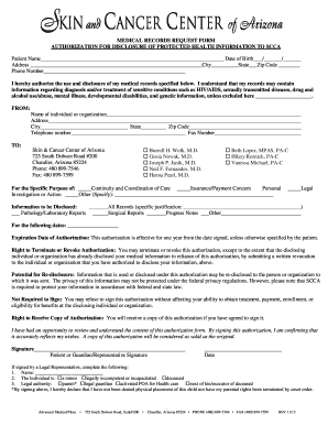 Fillable Online MEDICAL RECORDS REQUEST FORM AUTHORIZATION FOR ...