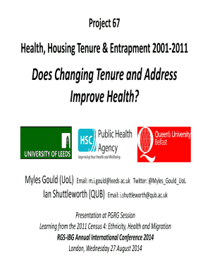 Does Changing Tenure and Address Improve Health - ukdataservice ac