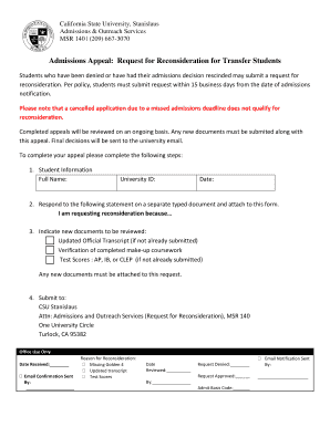 Sample Letter Of Appeal For Reconsideration On Admissions Edit