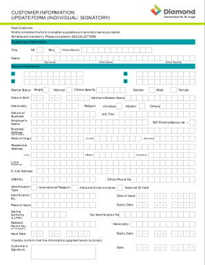 Rak bank address update form pdf