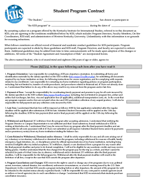 Student Program Contract - KIIS