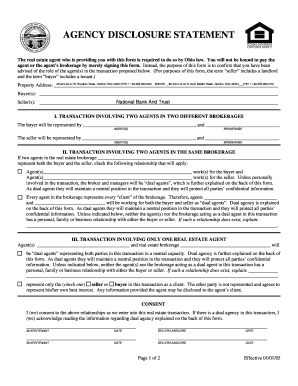DUAL AGENCY DISCLOSURE STATEMENT - Ohio Real Estate Fill