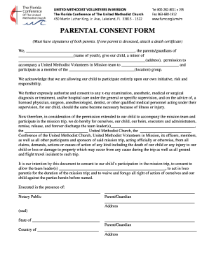 PARENTAL CONSENT FORM - hydeparkumcorg