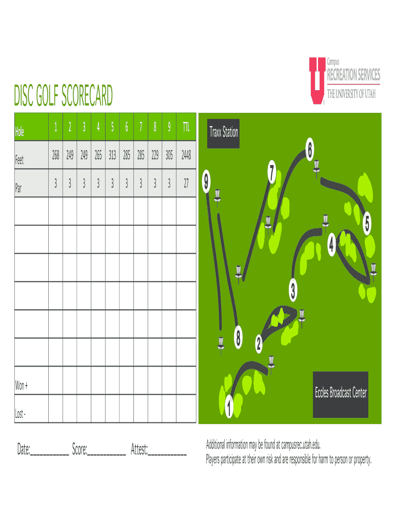 It's just a graphic of Impeccable Disc Golf Scorecard Printable