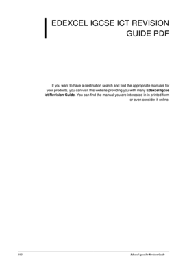 igcse ict revision guide fill online printable fillable blank rh pdffiller com edexcel international gcse ict revision guide edexcel igcse ict revision guide online