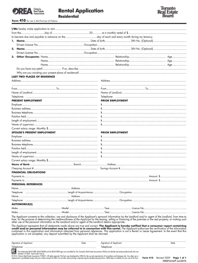 Fillable Online Sellwithalex Orea Form 410 Sellwithalexca