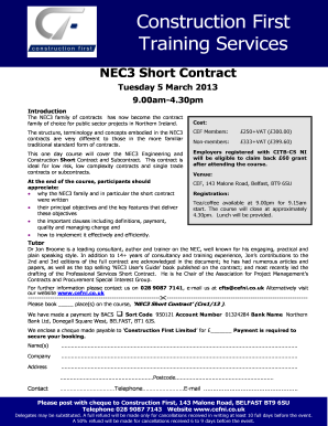 NEC3 ENGINEERING AND CONSTRUCTION CONTRACT