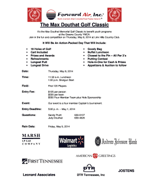 Fillable online greenecounty ymca max golf classic registration 2014 fill online m4hsunfo
