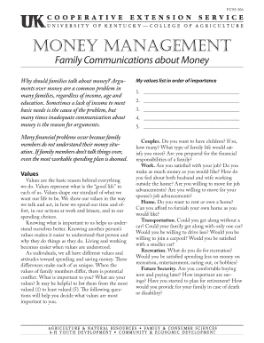 Money Management - Family Communications about Money - ca uky