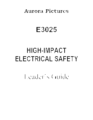 3025 High-Impact Electrical Safety - Aurora Pictures Inc