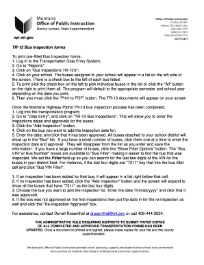 submit bus inspection form online in pdf Dot Bus Inspection Florida bus inspection form