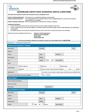 9 Sample Dental Claim Forms - Fill Out Online Documents ...