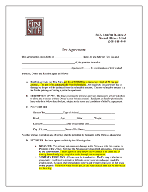 pet adoption contract template fill print download online