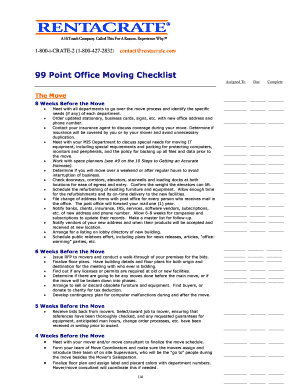Office Moving Checklist - Rentacrate