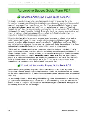 automobile buyers guide