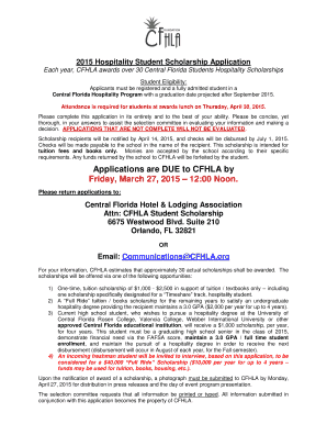 Fillable Online Applications are DUE to CFHLA by Friday March 27