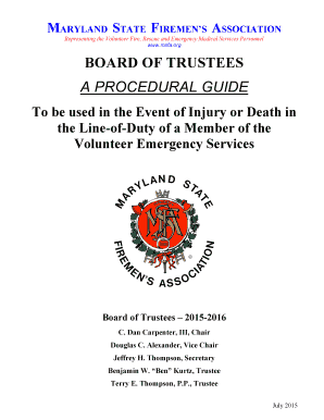 Board of trustees aproceduralguide - Maryland State Firemen39s bb - msfa