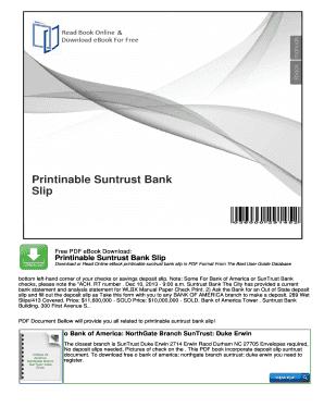 Deposit slip download suntrust ebook
