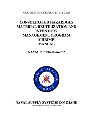 P-722 Consolidated Hazardous Material Reutilization and Inventory Management Program CHRIMP Manual - uscg