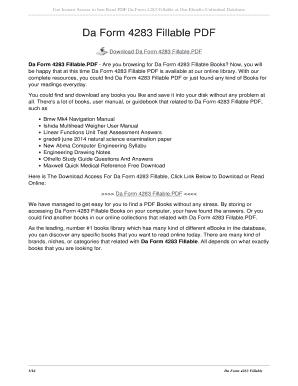 Fillable Online fernstudio Da Form 4283 PDF - fernstudionet Fax ...
