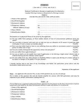 Driving Licence Application Form D401 Epub