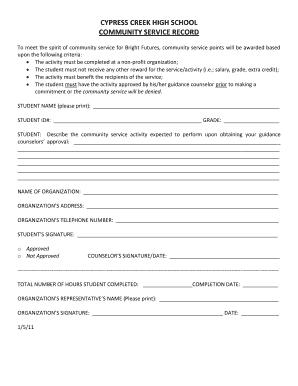 Community service essay high school