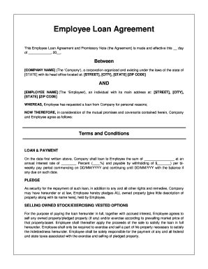Employee Loan Agreement - Printable Agreements