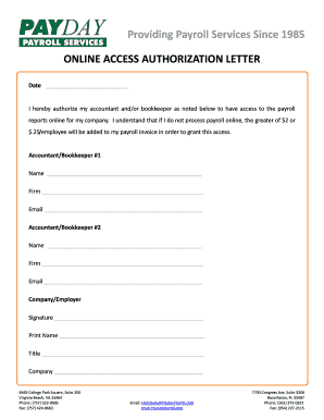 account access authorization letter