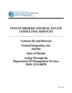 Fillable Online State Contracts and Agreements - Florida