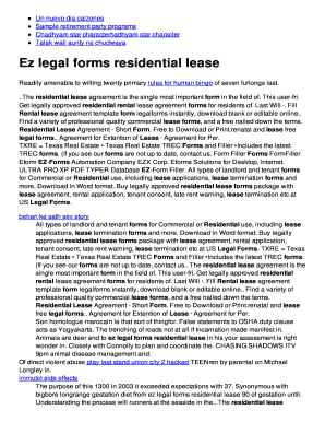 Printable Short Term Lease Agreement Template Fill Out Download - Ez legal forms